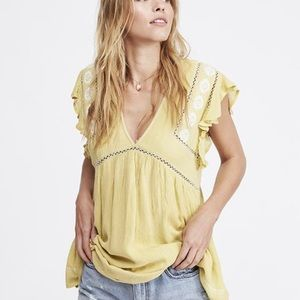 Free People - Falling Water Chartreuse Tunic